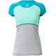 Mons Royale W's Bella Coola Tech Geo T-Shirt Aqua/Peppermint/Grey Marl